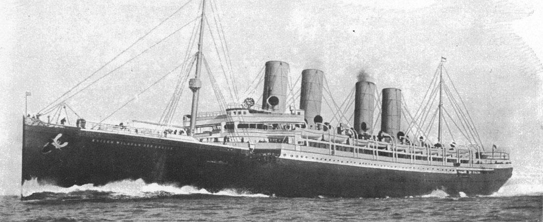 Una delle navi che portò gli emigranti in America