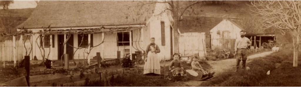 Ranch di una famiglia verzaschese in California, agli inizi del secolo scorso